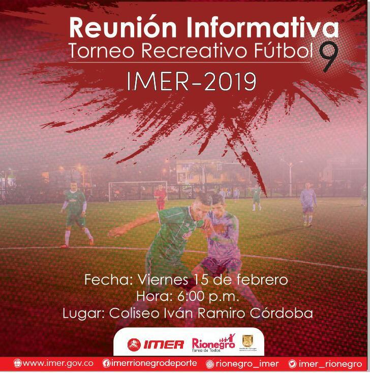 TORNEO DE FÚTBOL 9 IMER 2019 REUNIÓN INFORMATIVA